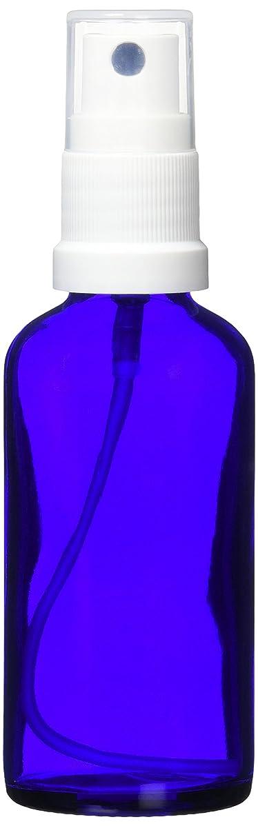 ゴムすすり泣き切り刻むease 保存容器 スプレータイプ ガラス 青色 50ml