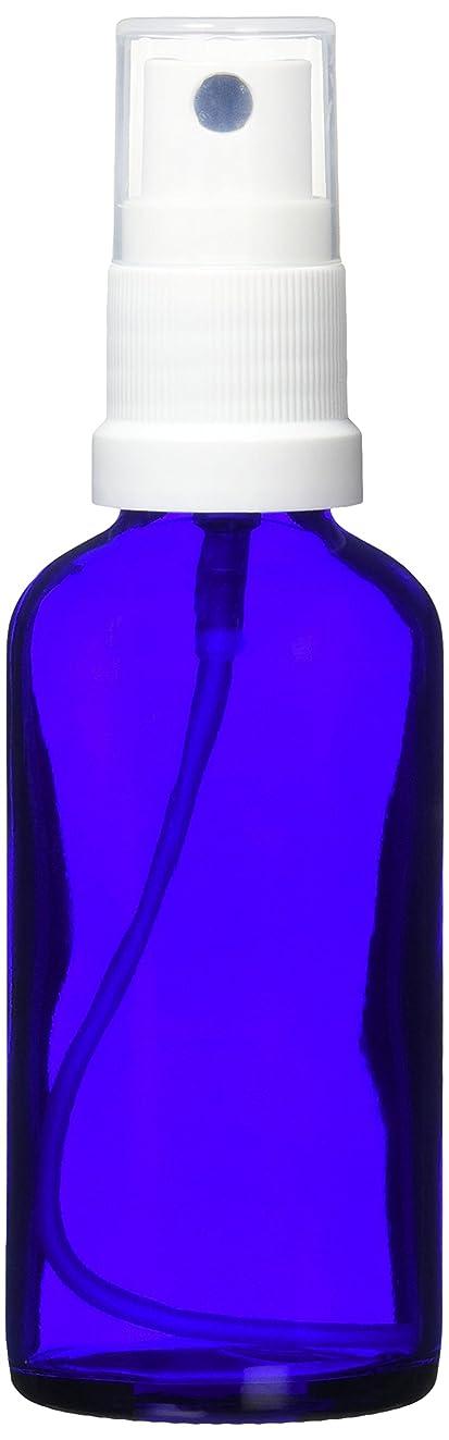 立方体コイル落ち着いたease 保存容器 スプレータイプ ガラス 青色 50ml