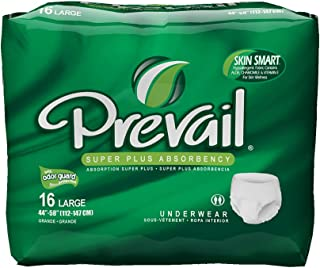 Prevail Super Plus Absorbency Incontinence Underwear, Large, 16-Count