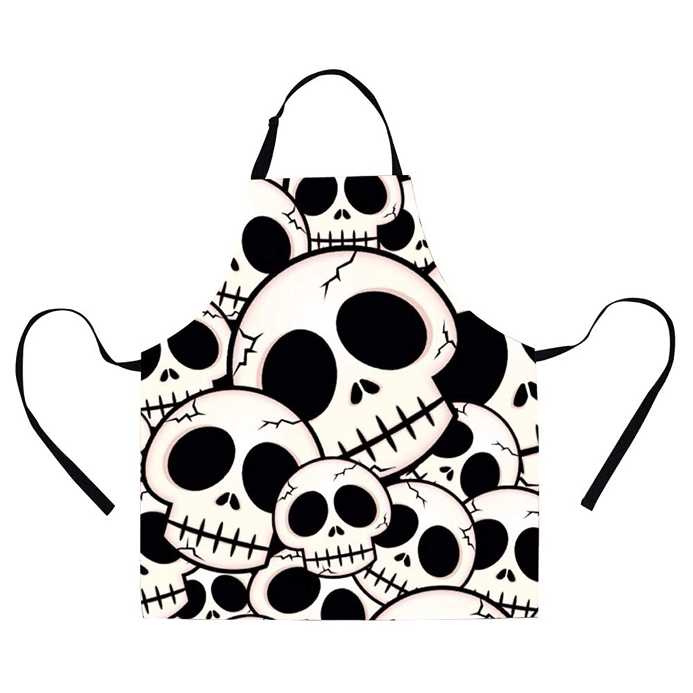GIVE ME BAG Generic Skull Apron for Women Kitchen Stylish Long Apron for Men Cooking or Garden