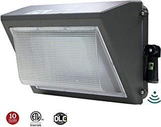 LED Wall Pack 100W, Adjustable Dusk-to-Dawn Photocell, 300-400W HPS/MH Replacement, IP65 Rated Waterproof Outdoor Commercial Lighting Fixture, 5000K 12500lm 10-Year Warranty by Kadision