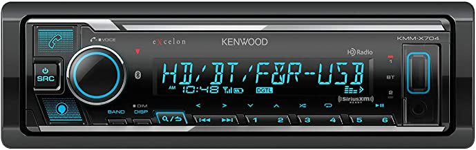 $129 » Kenwood eXcelon KMM-X704 Digital Media Receiver with Alexa, Bluetooth and HD Radio Compatibility