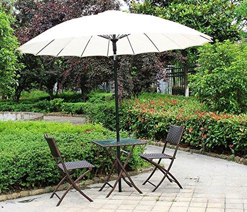 Tavolo e sedie pieghevoli set da tre pezzi in rattan, sedie e mobili in vimini per esterno