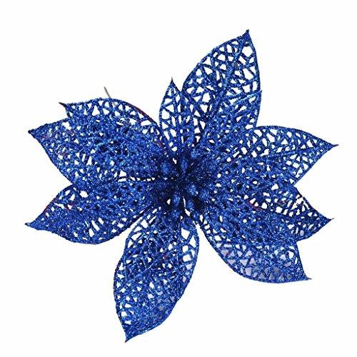 Coloré(TM) Roses de cristal Décorations Simulation Fleur Décoration Fleur (Bleu)