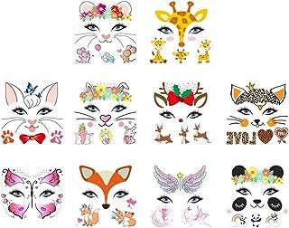 SOLUSTRE 10pcs Halloween Body Stickers Temporary Tattoos Cute Animals Waterproof Fake Body Stickers Cat Body Stickers Body...