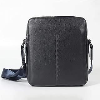 Mens Bag Korean Casual Shoulder Diagonal Cross-head Leather Cowhide Leather Bag Leather Men's Bag High capacity