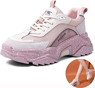Running Shoes Raise The Starry Sneakers Ladies Travel Walking Shoes Breathable Non-Slip Running Shoes (Color : Pink, Size : 6.5)