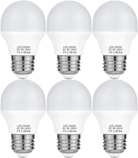 4W LED A15 Light Bulb(40Watt Equivalent),E26 Medium Base LED Flood Bulb G50 Bulbs,3000K Soft White LED Bulbs Not Dimmable 120Volt 360Lumens-6 Pack