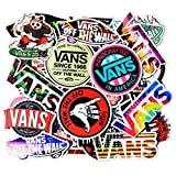 Stickers 100 Pcs/Pack for Laptop Computer Skateboard Helmet Luggage Guitar Scooter Car Snowboard Fashion Cool Decoration Stickers Decals Waterproof Vinyl Trendy Stickers for Adults Men Teens