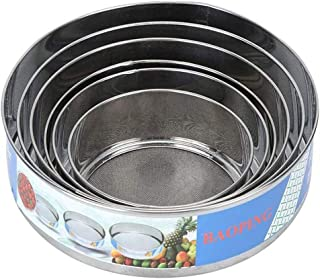 Anonry Mesh Sieves, Round Flour Sieve Strainers Set of 6 Pieces, Flour Sifters 5.1/5.9/6.9/7.7/8.1/9.3 Inch, Baking Tools ...