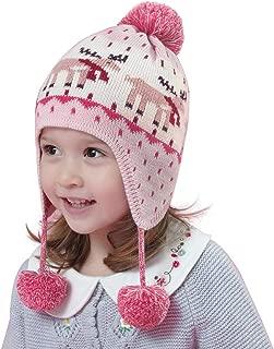 Bébé en Tricot Torsadé POM POM Chapeaux-Rose /& Bleu Nouveau-né 12 mois-fille garçon