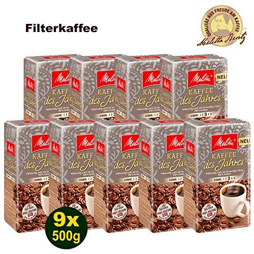 Melitta Kaffee des Jahres 2018 100% Arabica Filterkaffee 9x 500g (4500g) - Melitta Café gemahlen