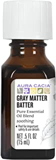 Aura Cacia Gray Matter Batter Essential Oil Blend | 0.5 fl. oz.