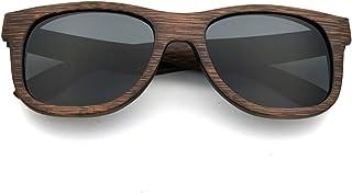 LUI SUI Occhiali da sole da donna in legno retro polarizzati occhiali da sole protezione UV occhiali leggeri in legno stil...