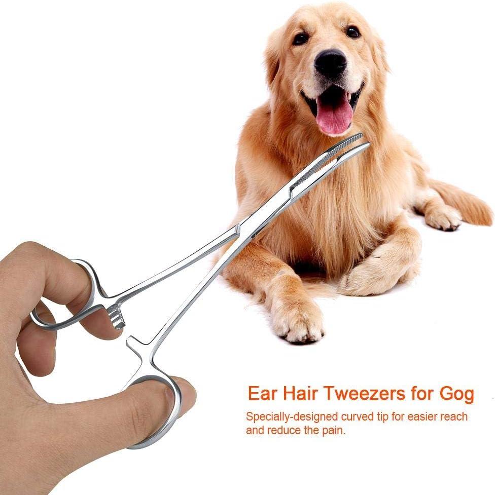 Tijeras para el Cuidado de Mascotas Redxiao Accesorios para recortador de Perros y Mascotas Pinzas para el Pelo de la Oreja Small Pinzas Kit de Aseo para Las Orejas Pinza de Limpieza de Punta