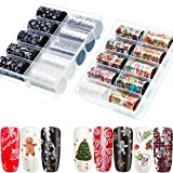 20 Rolls Christmas Nail Foil Transfer Stickers Holographic Laser Nail Art Foil Stickers Xmas Nail Stickers Decals for Women Nail DIY, 47.21.6 inches