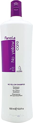 Fanola No Yellow Shampoo Ideal For Grey Superlightened Or Decoloured Hair, 1000Ml
