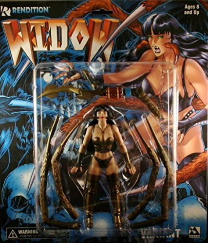 WIDOW  Gold VARIANT  Avatar Press 6 Inch RENDITION 1998 Action Figure by Rendition