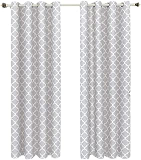 Royal Hotel Soho Silver Grommet Blackout Window Curtain Panel, Solid Pattern, 42x84 inches
