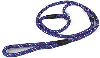 Zelta Adjustable Slip Lead Dog Training Leash 5-Ft. by 3/8-In. Width Nylon for Small Medium Dogs