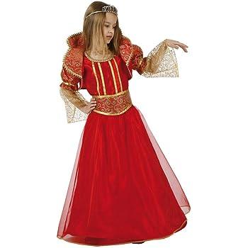 Atosa-96414 Reina Medieval Disfraz, color naranja, 10 a 12 años ...