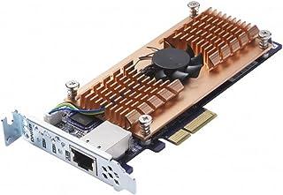 Qnap QM2-2S10G1T 双 M.2 22110/2280 SATA SSD 和单个 10GBASE-T 10GbE 网络扩展卡(PCIe Gen2 x 4),半高支架预装,平齐全,不含 SSD
