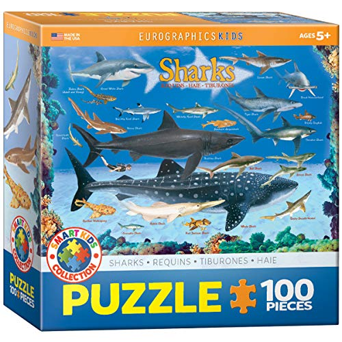 Sharks 100 Pieces Eurographics Kids 5+