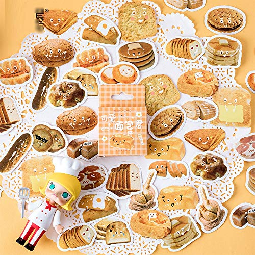 DzdzCrafts Funny Bread 92PCS Stickers 1.6 Inch Large for Scrapbooking Diary Planner Album Phone Case Laptop Card Making