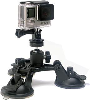 Fantaseal Trip-Cup Ventosa 360° Giratoria con Cabeza de Bola Ventosa para Coche de Gopro Ventosa Triple para Cámaras Nikon / Canon / Sony y GoPro Session Hero 7/6/5/4/3+/3 etc