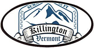 CafePress Killington Ski Resort Vermont Patches Patch, 4x2in Printed Novelty Applique Patch