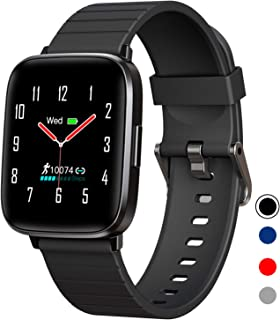 Fitness Tracker,Smart Watch with Blood Pressure Heart Rate Sleep Monitor for Men and Women, Touchscreen 10 Sport Modes Waterproof Activity Tracker with Pedometer for Android and iPhone