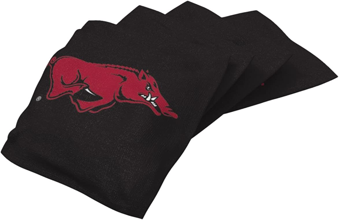 4 Pack ,16 oz Wild Sports unisex NCAA College Penn State Nittany Lions White Authentic Cornhole Bean Bag Set