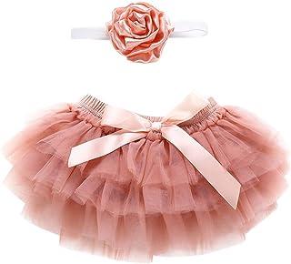 6b7cb107f4d4a TWIFER Été Tulle Tutu Jupes + Bandeau Bowknot Tenues Vêtements Nouveau-né  Infant Enfants Bébé