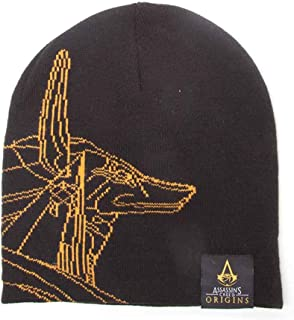 Assassins Creed Beanie Hat Origins Anubis Logo Official Black