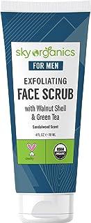 Exfoliating Face Scrub for Men (4 fl oz) USDA Organic Pre-Shave Deep Exfoliator with Manuka Honey & Aloe Vera for All Skin...