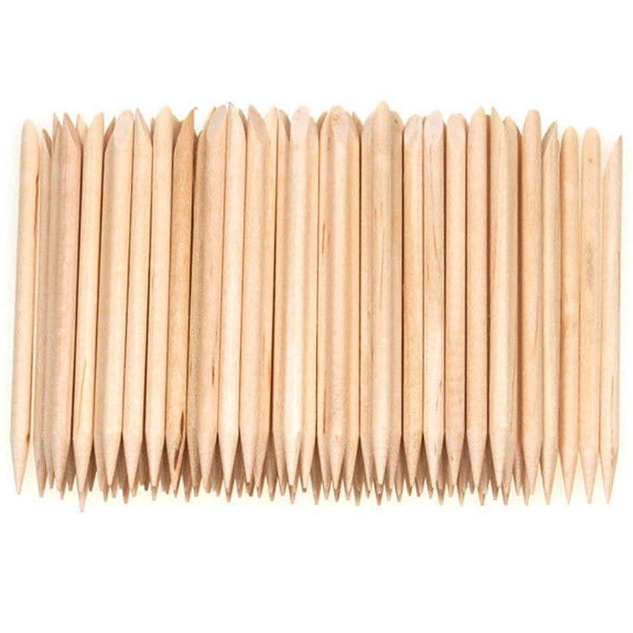 有利硬い人気1st market プレミアム 人気 100個ネイルアートデザイン木製の棒キューティクルプッシャーリムーバーマニキュアケア 便利