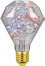 LED Fairy Gloeilamp, E27 RGB Meerkleurige Lamp Koperdraad Sterrenhemel Decoratieve Sfeer Nachtverlichting 2300K Warm Wit 2...
