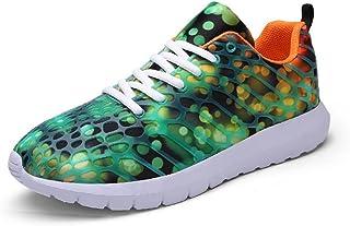 Shoes スニーカー 男女 アスレチック スニーカー カジュアル 柔らかい 通気性 カモフラージュネット ランニング シューズ Comfortable (Color : 緑, サイズ : 25 CM)