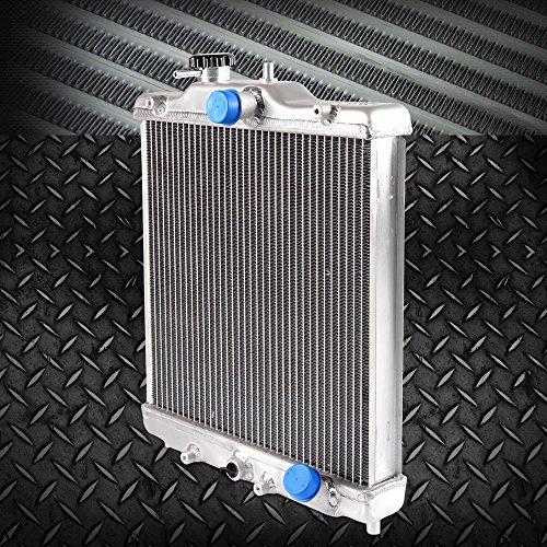 3 Row 52mm Aluminum Cooling Racing Radiator Stop Leak Compatible For Honda Civic 1992-2000 EK EG D15 D16 In/Out 28mm 1993 1994 1995 1996 1997 1998 1999
