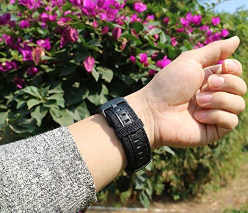 OTOPO für Galaxy Watch 3 45mm Armband, 22mm Nylon Ersatz Riemen Bänder Armband für Samsung Galaxy Watch3 45mm Smartwatch (Schwarz)
