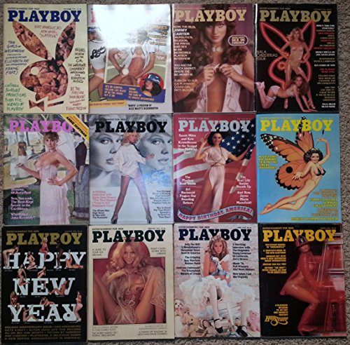 All 12 Issues of Playboy Magazines for the Year 1976. From January 1976 to December 1976