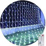 3M X 2M 200LED Guirnaldas Neta Luz Luces de Navidad Luces de red Luces de árbol para en interiores y exteriores 8 programas