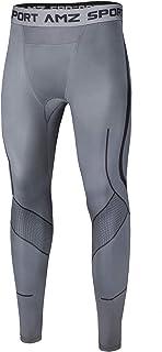 AMZSPORT Pantalones de Compresion Hombre Deporte Mallas Running de Secado Rápido