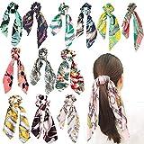 Jainy CREATIONS® Satin Silk Elastic Hair Bands/Scarf Ponytail Holder Scrunchy Ties Vintage...