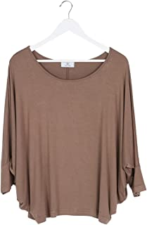 (ミズミス) Ms.Miss 七分袖 ドルマンスリーブ カットソー チュニック レディース トップス Tシャツ シャツ 大きいサイズ ワンサイズ M ~ LL