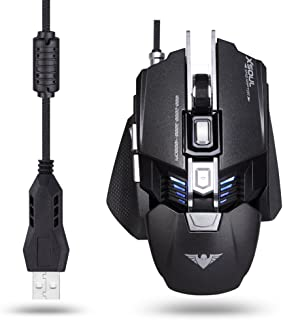 XSOUL Gaming Mouse 4000DPI 7 Buttons Customized Weight Tunning Palm Rest Replaceable High Precision Optical Ergonomic Design Mice for Pro Gamer Raptor XM3 - Gray