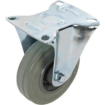 Ruedas giratorias r/ígidas con placa fija Merriway BH06998 Bulk Hardware 140 kg, 50 mm, 4 unidades color negro