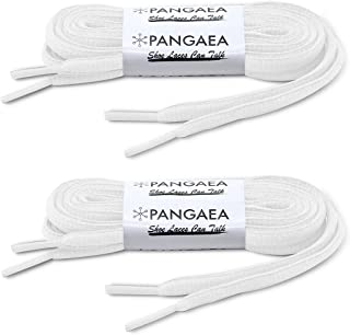 [2 Pair] Pangaea Oval Shoelaces Half Round Semi-Round 1/4INCH Shoe Laces More Colors and Lengths
