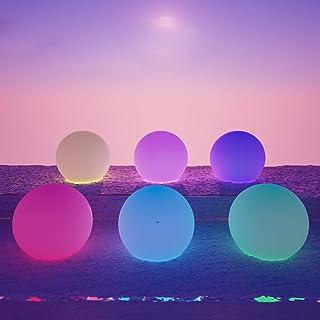 LOFTEK Led Ball Light Pool Decorations, Floating Pool Light Waterproof RGB Glow Balls, Color Changing Light RGB Lights for...