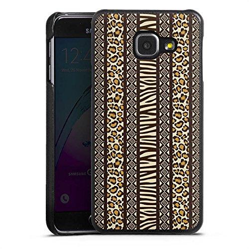 DeinDesign Cover kompatibel mit Samsung Galaxy A3 (2016) Lederhülle schwarz Leder Hülle Leder Handyhülle Animal Print Afrika Zebra